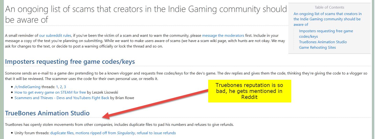 Reddit :: Beware of Truebones