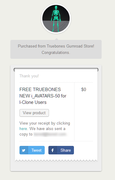 1  FREE TRUEBONES NEW i_AVATARS-50 for I-Clone Users